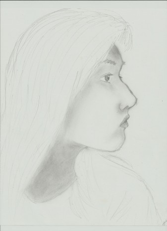 Side view drawing of me
