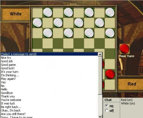 I'm a total BADASS in internet checkers