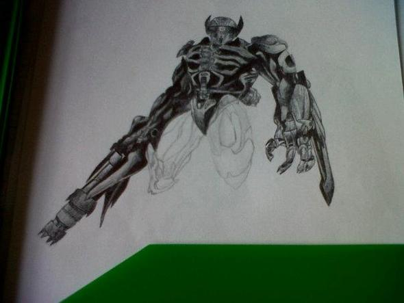 Pen and Pencil Drawing of ShockWave