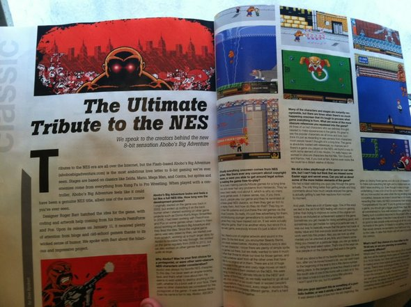 Abobo Gets a 2 page spread in Game Informer!