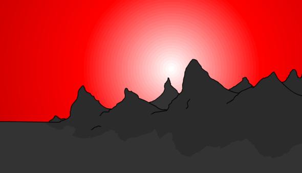 The Nevada sunset....