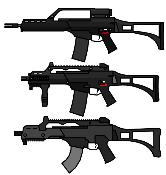 The wepon G36 was done