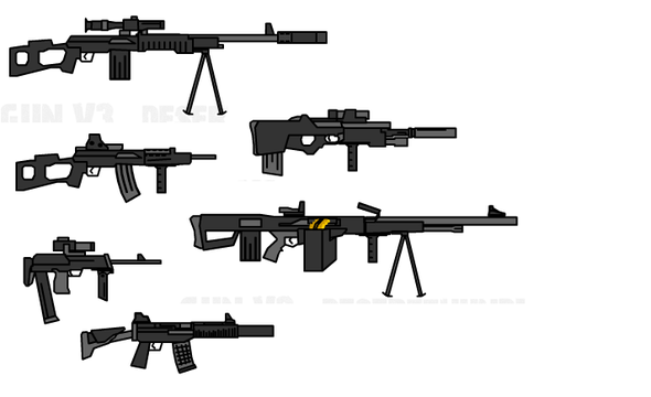 guns i created using the Create A Gun V3 game i wish there were a game wereu could build the guns for your player
