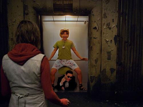 stuck in the elevator