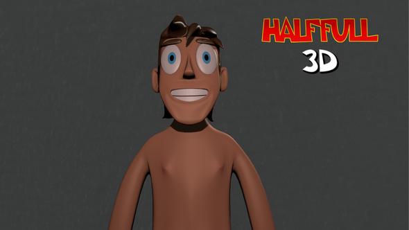 3D Naked Man