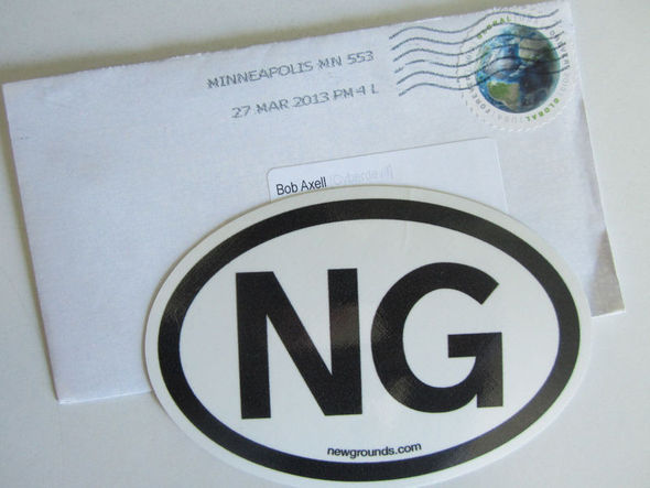 One NG Bumper Sticker Arrived
