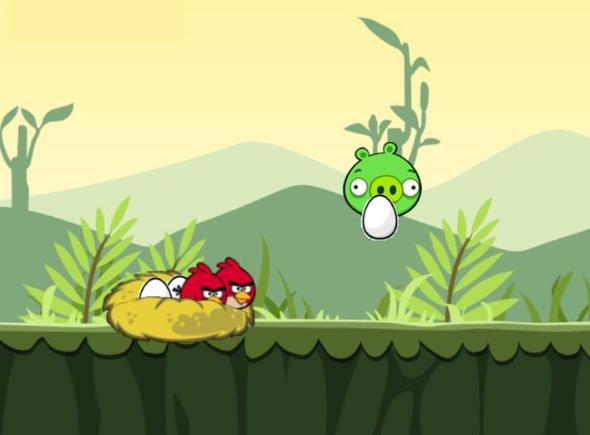 Angry Birds -The Run (Idea.. and Test Game)