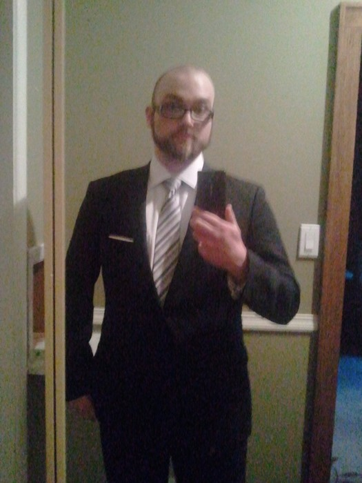 Here's me in a suit