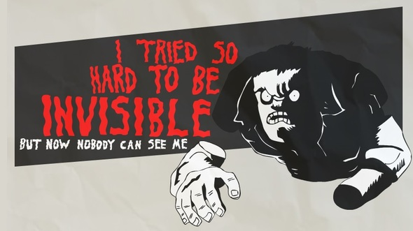 Animated version of the invisible man!