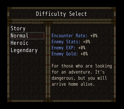 Difficulty Select