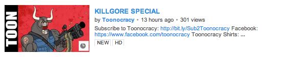 Killgore Featured on Toonocracy!