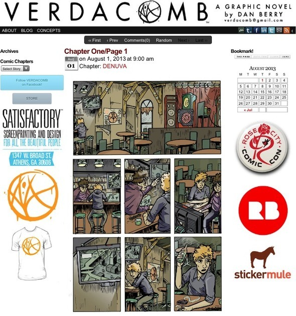 VERDACOMB.COM is Live! Chapter One is in Production!