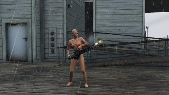 BOOBS + GUNS = GTA V