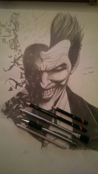 A3 Joker pencil drawing.