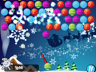 Bubble Shooter Christmas screen