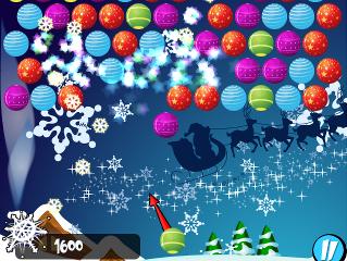 Bubble Shooter Christmas screen