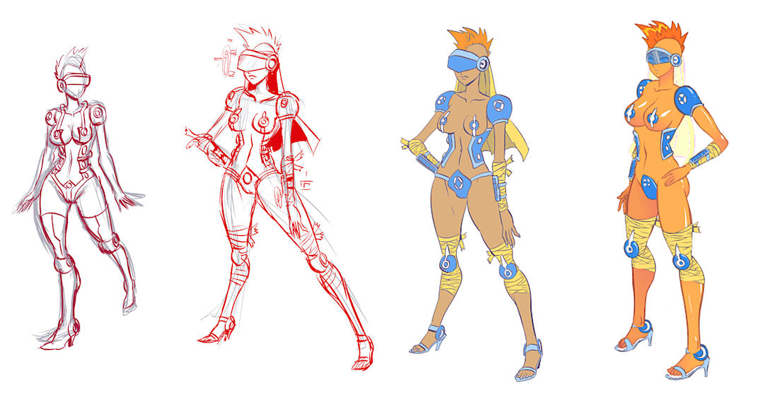 Early concepts for first NPC