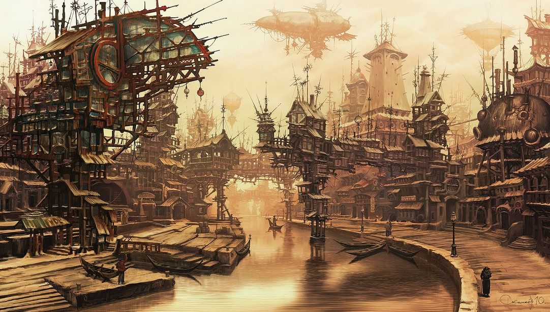 steampunk landscape by nessdu - photo #17