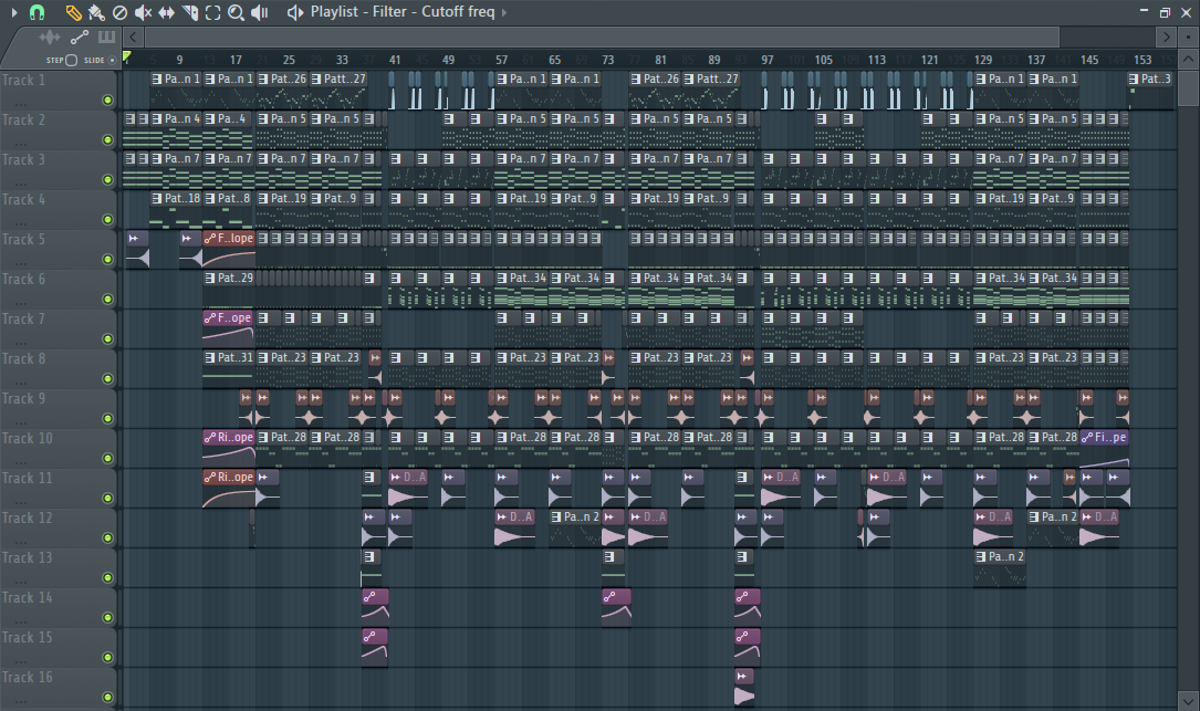 "The project file for ""Mixy Motions."""