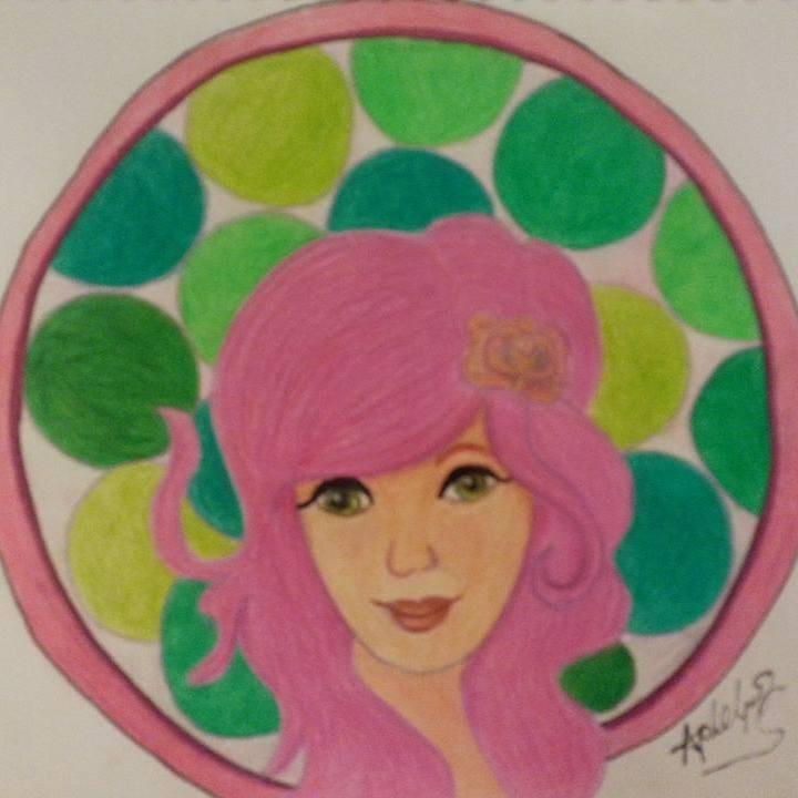 pink circle girl by april phelps