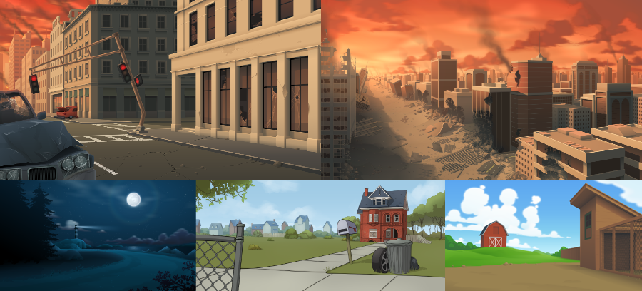 some backgrounds I did