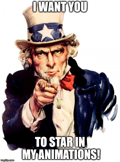 I WANT YOU :D
