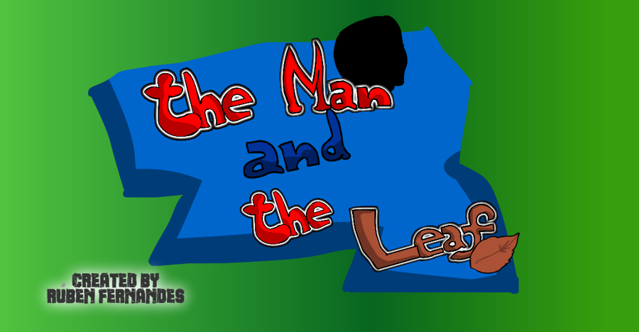 The Man and the Leaf Logo