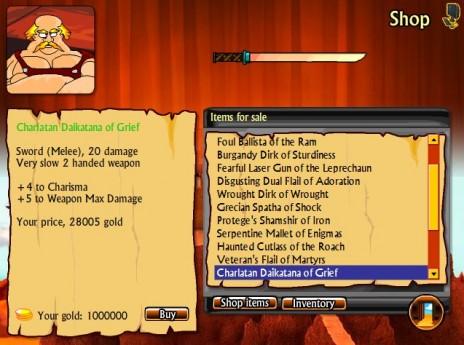 Swords & Sandals 3 - Weapons Shop