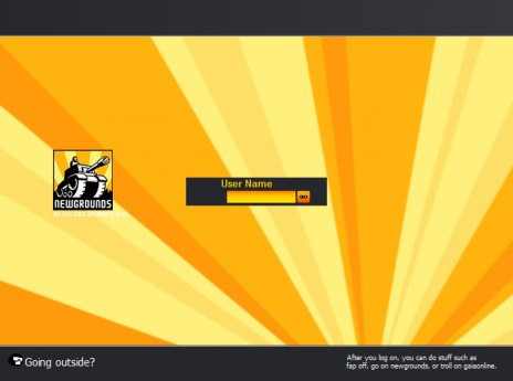 Newgrounds Windows Logon Theme - - BETA 1.0 Revision A