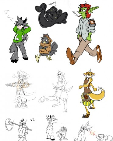 Rydin Character Concept Sketches