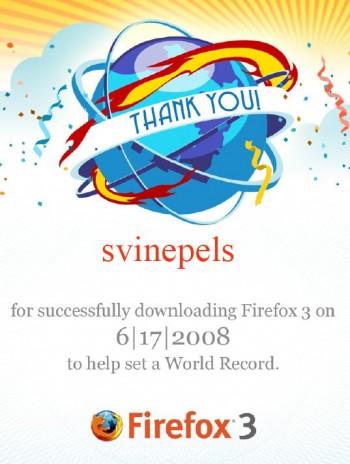 Firefox 2 Guinness World Record