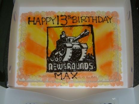 Newgrounds Cake