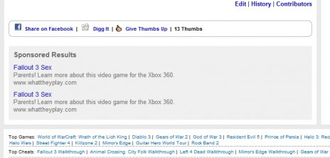 So I Was Looking For A Fallout 3 Walkthrough...