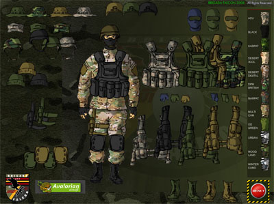 Dressing a Soldier game !