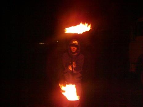 my firesticken on birubi beach