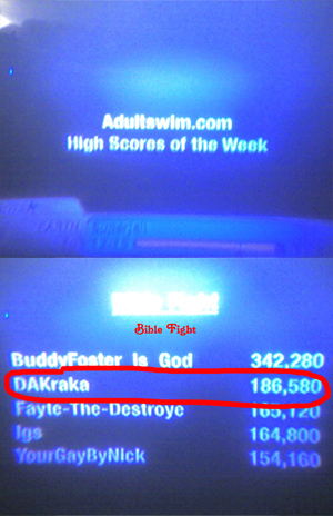 Adult Swim High Scores of the Week!