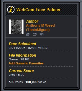 100,000 views WebCam Facepainter 1.0!