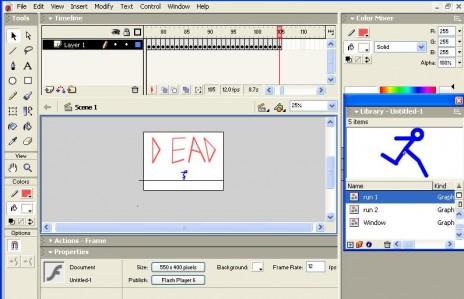 First flash: Stick Animation