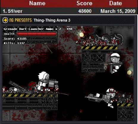 1337 score in Thing Thing Arena 3