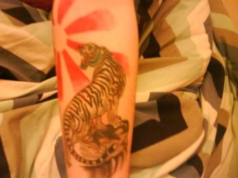 Me getting tattooed