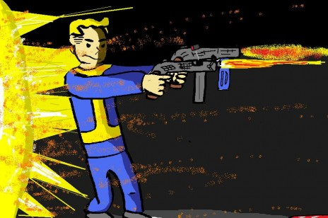 Vault Boy Drawing
