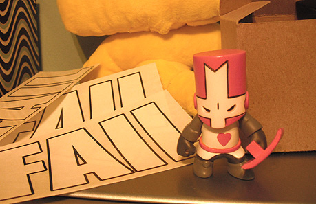 Win pink castle crasher or a Fail sticker