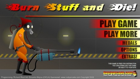 My latest game, Burn Stuff And die!