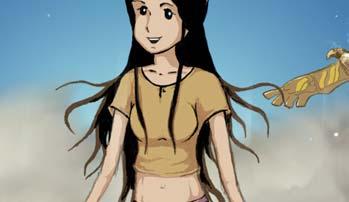 Girl in a breeze