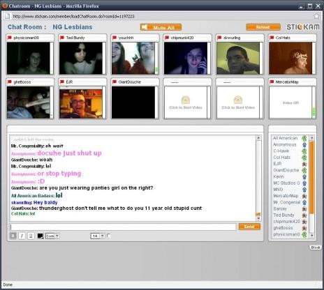 Newgrounds Stickam Webcam Chat