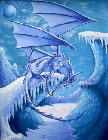 ice dragons by hellboundsoul07