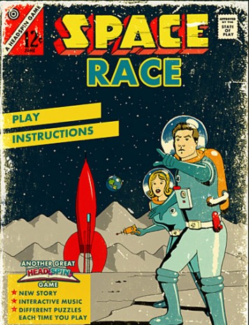 Headspin: Space Race now on Newgrounds!