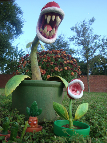 Piranha Plant Sculpture and Baby