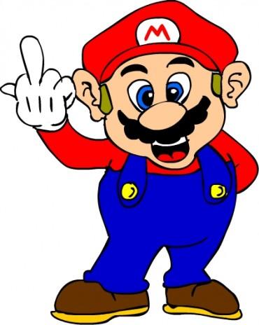 new art!  Mario flips you the bird!