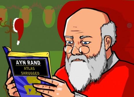 Santa Reads Ayn Rand